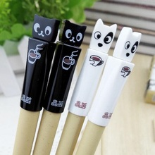 Wholesale study stationery new arrival fashion cute Coffee Cat & Dog series gel pen.0.38mm.student tool school office use office