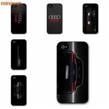 minason Awesome Audi Car RS Logo Cover case for iphone 4 4s 5 5s 5c 6 6s 7 8 plus samsung galaxy S5 S6 Note 2 3 4 F0351(China)