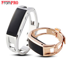 FROMPRO Bluetooth bracelet D8 Full steel Smart Bracelet Sync phone LED DigitalWatch with Vibrate can answer phone for Smartwatch