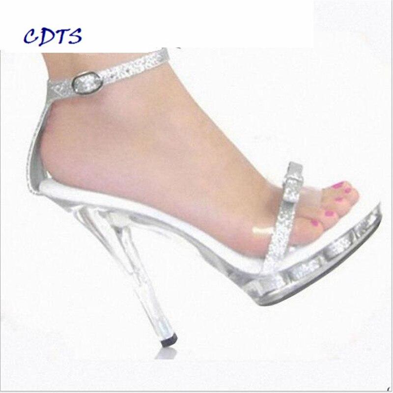 Free shipping Bowtie women shoes CDTS 13cm thin heels Glitter Sandals Summer Plus:35-45 46 wedding/bride Crystal platform Pumps<br>