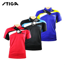100% original STIGA Table Tennis Shirt ping pong Clothing Sport T-shirts For Men and women Jersey