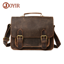 JOYIR 2017 New Arrival Vintage Casual genuine leather man bags cowhide leather crossbody bag men messenger bags Briefcase 6007(China)