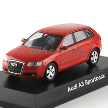 Red 1:64 Kyosho Diecast Car Model for Audi A3 Sportback