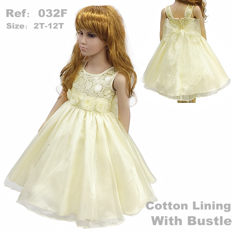 HG Princess Lining Cotton Girl Party Dress For 2-12 Years Kids Formal Dresses Sequined Top Kids Evening Gowns With Flowers 032F<br>