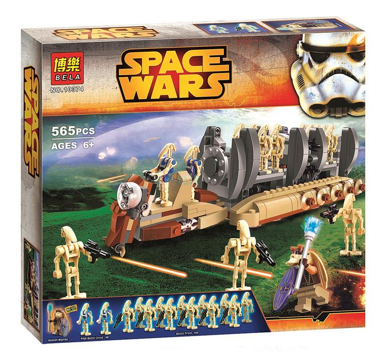 10374  565pcs NEW  Star Wars Battle Droid Troop Carrier Building Blocks Toys Gifts figureset Boys 75086 compatible with brand<br><br>Aliexpress
