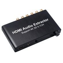 New 5.1CH HDMI Audio Extractor Decode Coaxial to RCA AC3/DST to 5.1 Amplifier Analog Converter Support 4K 3D For PS4 DVD Player