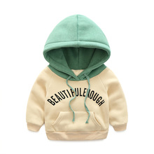 HOT! 2016 autumn Winter Kids Thick cotton hoodies Fashion sweatshirts Baby Boys girl Outerwear Warm clothes With cashmere Coat