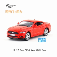 Brand New  1/36 Scale Car Toys 2015 Ford Mustang GT Diecast Metal Pull Back Car Model Toy For Gift/Kids/Christmas