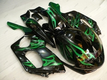 Fairing YZF 600R 04 05 Bodywork for YAMAHA YZF600R 00 01 1997 - 2007 Black Green Flame Abs Fairing YZF600R 06 07