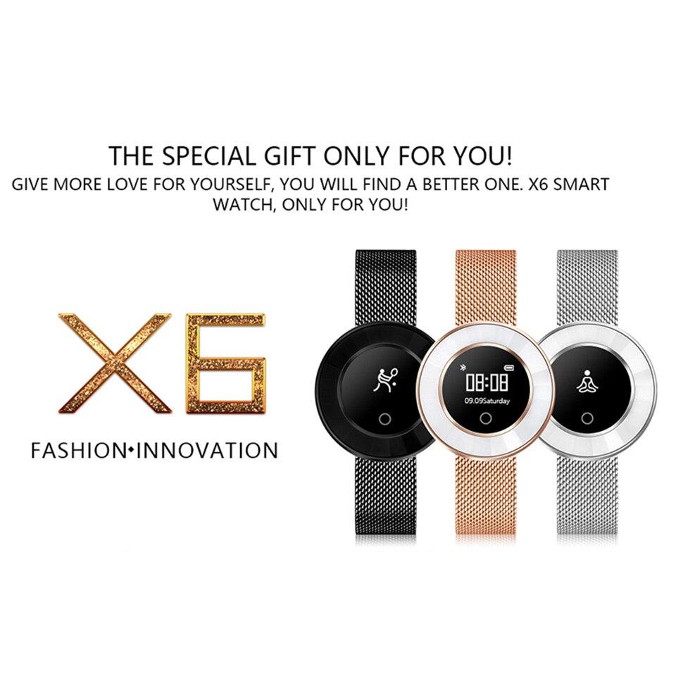 women smart fitness bracelet X6 2