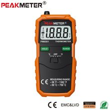 Official PEAKMETER PM6501 LCD Display Digital Thermometer with K Type Thermocouple Termometro with Data Hold(China)