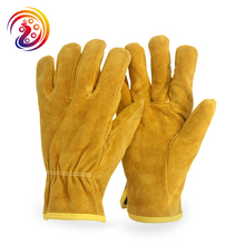 OLSON DEEPAK Cow Split Leather Factory Driving Gardening Welding Work Gloves HY011 Free Shipping(China)
