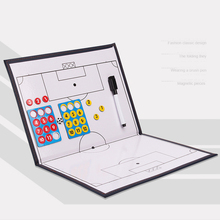 Football Soccer Coach Tactic Board Magnetic Soccer Coach Tactical Plate Book Set with Pen Football Match Traning Accessories
