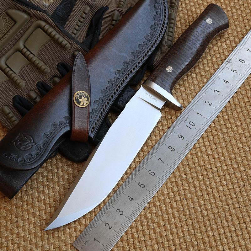 LW Python 2 D2 blade Mikata handle Leather sheath fixed blade hunting large knife camping survival outdoor EDC knives tools<br><br>Aliexpress