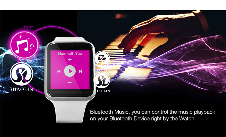 SHAOLIN Bluetooth Smart Watch Heart Rate Monitor Smartwatch Wearable Devices for iPhone IOS and Android Smartphones apple watch-16