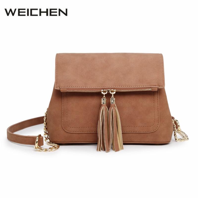 Scrub Brown Envelope Messenger Bag for Women Tassel Chain Flap Small Womens Bags Shoulder Bag Crossbody Bags Bolsa Feminina<br>