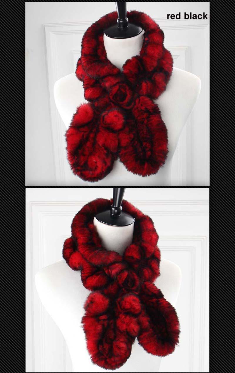 rex wavy scarf red black