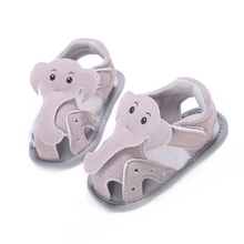 Baby Boys Shoes Summer Slippers for Girl Gear Newborn First Walker Infant Cartoon Elephant Toddlers Leather Flats Child Footwear