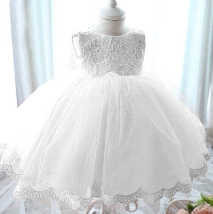 Retail Girl Dress for infant baptism Summer Princess Baby Girls Wedding Dress Birthday Bow kids dress for girls<br><br>Aliexpress