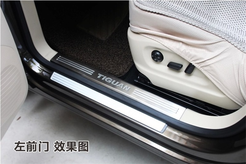 For-Volkswagen-VW-Tiguan-Scuff-Plate-Inner-Door-Sills-Guard-2010-2011-2012-2013-Tiguan-Welcome