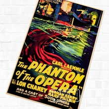 Pop Phantom of the Opera Horror Film Vintage Retro Kraft Poster Decorative DIY Wall Sticker Home Bar Art Posters Decoration Gift(China)