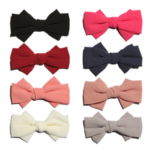 5PCS 15cm Newborn Big Soft Pearl Chiffon Hair Bows for Gilrs Hair Clips Handmade Layered Hairbows for Women Hair Accessories(China)