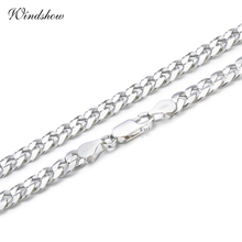 Buy 925 Sterling Silver Curb Chain Link Necklaces Men Jewelry collares kolye Collier Hiphop 50cm 55cm 60cm 4mm 6mm ketting collane for $20.99 in AliExpress store