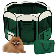 "45"" Pet Playpen Puppy Dog Fence Kennel Exercise Crate Foldable Folding green"