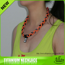 custom tornado titanium braided necklace 3 ropes sports power necklaces
