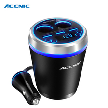 Car Music MP3 Player Bluetooth Car Kit FM Transmitter HandsFree Cigarette Lighter Adapter Splitter 3 Ports USB Charger fm modula(China)
