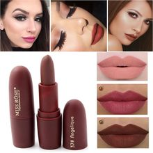 New Sexy Red Lips Matte Velvet Lipstick Pencil Cosmetic Long Lasting Lip Tint Pigment Makeup Nude Brown Lipstick Matte Lip stick(China)