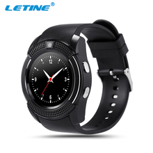 Letine V8 Electronic Smart Wrist Watches Man Intelligent Watch Clock Support Sim Slot Camera for Connectivity Android iOS Phone(China)