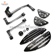 Edge Deep Cut Motorcycle Driver Floorboard Passenger Foot Peg Arm Kit Shift Lever case for Harley Touring Dyna FLD Softail FL