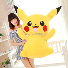 Super Big 100cm/39'' Huge Cute Giant Plush Pikachu Soft Plush Toy PP Cotton Huge Stuffed Plush Chrismas Gift(China)