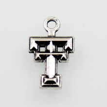 HAEQIS Vintage Alloy Sport NCAA Charms Texas Tech College Charms Red Raiders Team Logo Charms AAC979