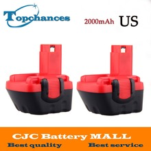 2PCS US High Quality 12V 2000mAh Ni-CD Battery for Bosch GSR 12 VE-2, 2000mAH NI-CD BAT043 BAT045 BTA120 26073 35430(China)