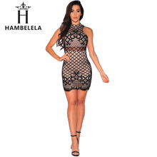 Buy HAMBELELA Sexy Club Party Dresses Autumn Vestidos 2017 Sleeveless Mesh Bandage Dress Women Elegant Bodycon Mini Short Dress for $11.72 in AliExpress store