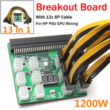 Buy PSU/GPU Power Adapter Breakout Board 12V Ethereum ETH ZEC Devices Mining Power Supply 12pcs PCI-E 6Pin 6+2Pin Cables Ki for $25.88 in AliExpress store