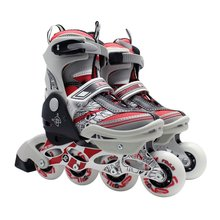 Unisex Professional Children Skating Shoes Single-row Roller Skates Shoes Adjustable Universal Inline Skating Shoes(China)