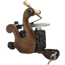 5Pcs/lot Professional Damascus Tattoo Machine 10 Wrap Coils Iron Cast Frame Custom Tattoo Gun For Liner Shader DTM-6027-D19(China)