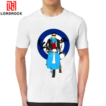 Custom Made Funny Vespa Rider Shirt Men Short Sleeve Scooter Motorroller T Shirt Summer Digital Printed Drop Ship Price(China)