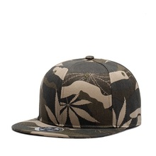 Camouflage Snapback Caps Male Casual Flat Peaked Hats Men Fashion Hiphop Baseball Cap(China)