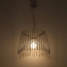 Brief IKEA Spider Net Iron Art Pendant Light Dia 45cm Adjustable Line American Country Lamps Decors Brief Lighting LED Lights(China)