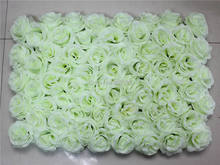 EMS Free pink Shipping 60*40cm Artificial silk rose flower wall wedding background lawn/pillar flower home market decoration(China)