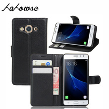 Leather Phone Cases For Samsung Galaxy J3 Pro Case Wallet Cover Flip Stand Skin + Card Holder 5.0 inch Business Style Phone B(China)