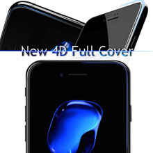 4D(2nd Gen 3D) Curved Edge Full Cover Tempered Glass For iPhone 6 6s 7 Plus Protective Premium Screen Protector Film Safety Case