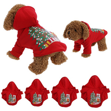 Christmas Dog Clothes Santa Costume Pet Dog Christmas Clothes Winte Coat Clothing Cute Puppy Outfit for Dog Plug Sizes S-XL(China)