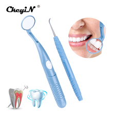 Medical Equipment LED Lighted Teeth Whitening Kits Oral Care Tooth Cleaning Dental Mouth Mirror Stain Remover Oral Hygiene Kit
