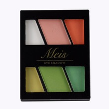 MEIS Brand eye shadow Professional Makeup 6 Colors matte Eyeshadow Palette Matte Eyeshadow Eye Shadow Palette MS0603(China)