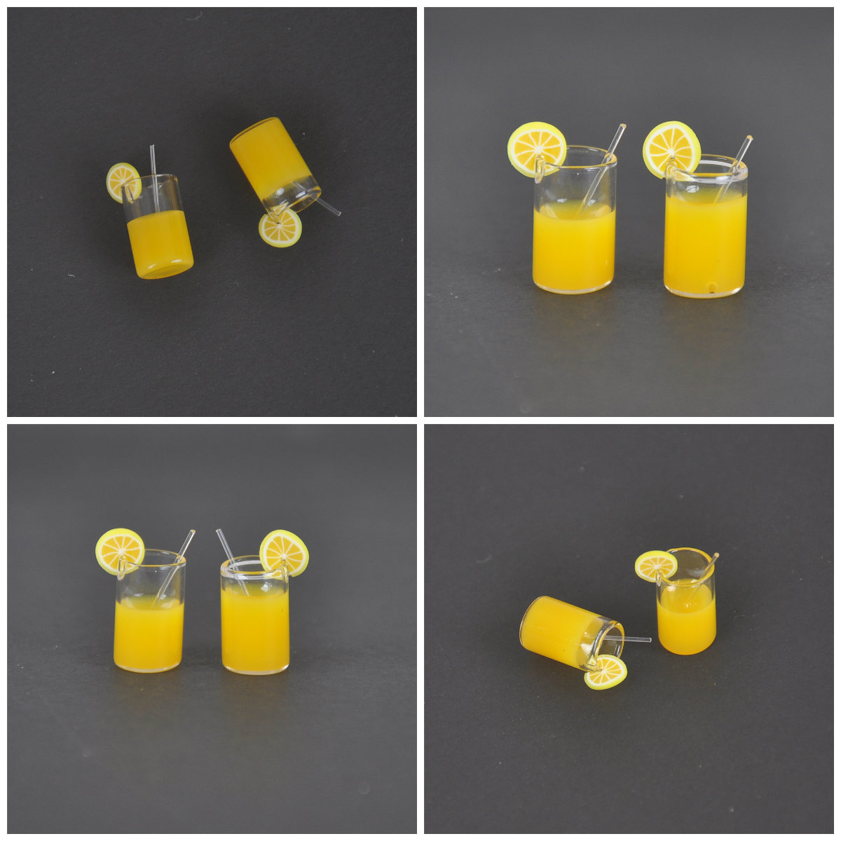 2X 1:12 Lemon Water Cups Dollhouse Accessories Miniature Toy Doll Food Kitchen